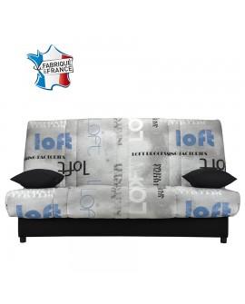Banquette clic clac coffre rangement tissu A265/A203