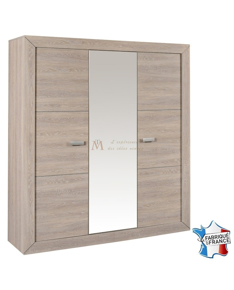 Armoire 3 portes but cool armoires pin portes coty with for Armoire lingere ikea