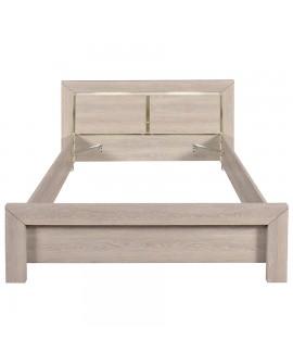 Le cadre de lit et la tête de lit sans sommier du lit adulte LUVIA