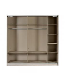 armoire moderne d cor ch ne 2 portes coulissantes avec miroir. Black Bedroom Furniture Sets. Home Design Ideas