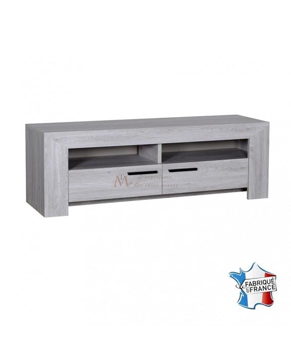 meuble tv contemporain ch ne gris c rus 1 niche 2 tiroirs. Black Bedroom Furniture Sets. Home Design Ideas