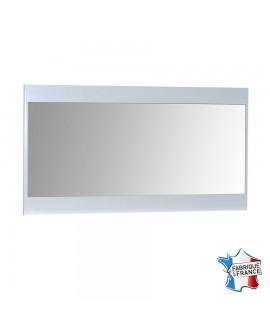 Grand miroir moderne FIONA cadre décor laque blanche brillante