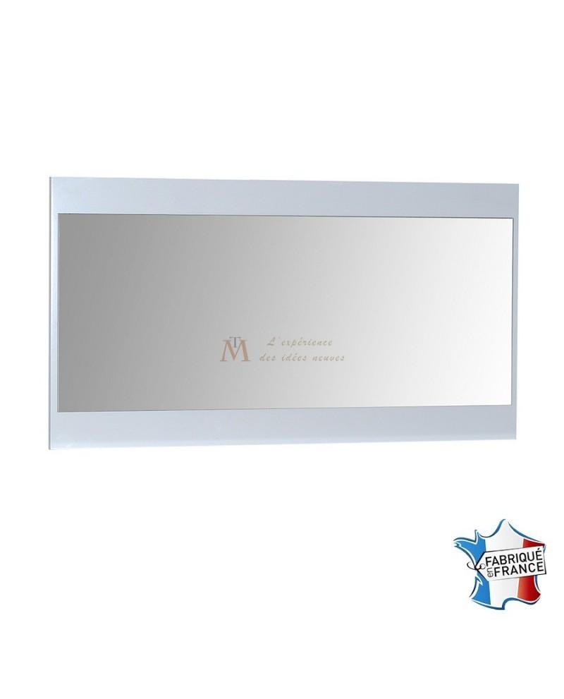 Miroir design moderne 110 cm cadre laque blanche brillante for Miroir cadre blanc