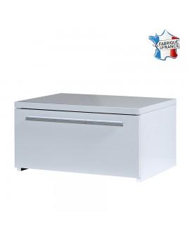 Chevet moderne 1 tiroir FIONA décor laque blanche brillante