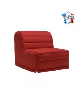 Fauteuil-lit tissu rouge fabriquée en France 93 x 90 x 97 MARGOT B925