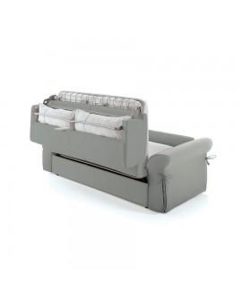 Détail des coffres de rangement gain de place intégrés dans le dossier du canapé rapido ARENA