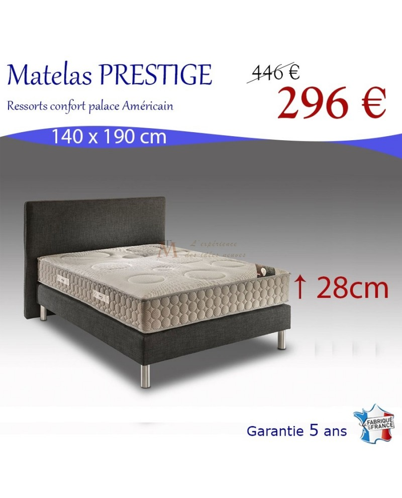 matelas adulte 140 x 190 cm fabriqu en france prestige. Black Bedroom Furniture Sets. Home Design Ideas