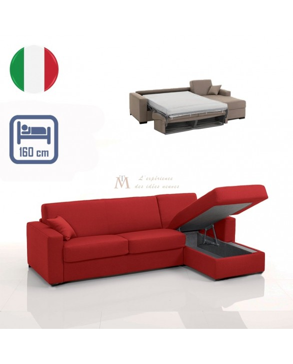 canap lit rapido grand couchage 160 cm m ridienne coffre. Black Bedroom Furniture Sets. Home Design Ideas