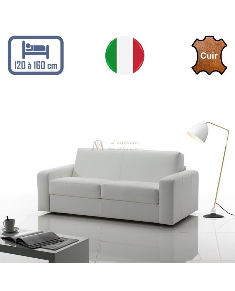 canap lit rapido rev tement cuir couchage de 120 160 cm. Black Bedroom Furniture Sets. Home Design Ideas