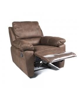 top detente fauteuil relax m canisme manuel tissu nubuck. Black Bedroom Furniture Sets. Home Design Ideas