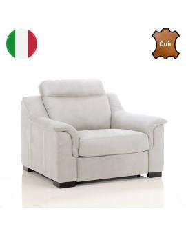 Fauteuil TREVISE à revêtement cuir de fabrication italienne