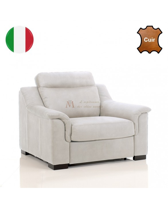 fauteuil contemporain grand confort cuir vachette 8 coloris. Black Bedroom Furniture Sets. Home Design Ideas