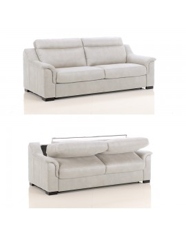 Canapé lit convertible rapido TREVISE tissu SI01 couchage 120 cm made in Italy