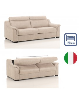 Canapé lit convertible rapido TREVISE tissu SI03 couchage 120 cm made in Italy