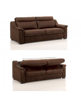 Canapé lit convertible rapido TREVISE tissu SI11 couchage 120 cm made in Italy