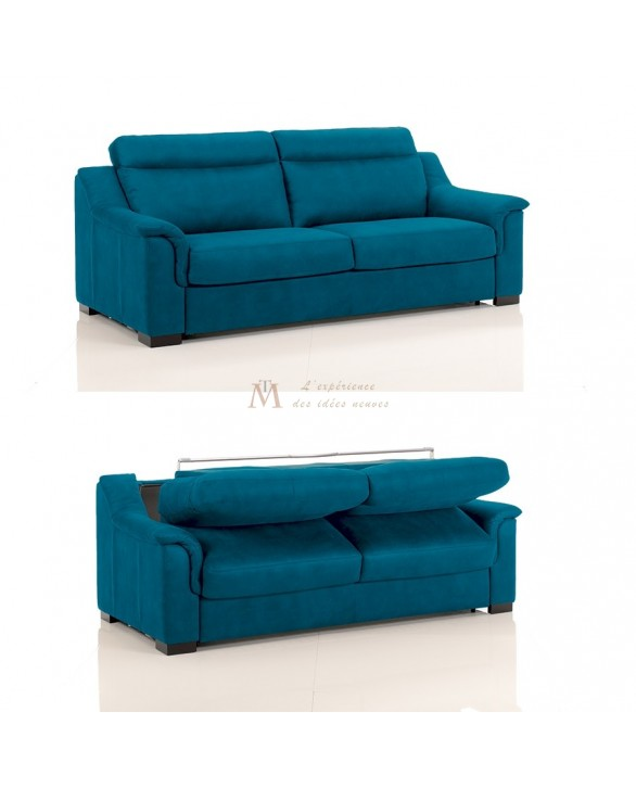 Canapé lit convertible rapido TREVISE tissu SI14 couchage 120 cm made in Italy