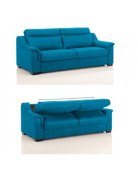 Canapé lit convertible rapido TREVISE tissu SI15 couchage 120 cm made in Italy