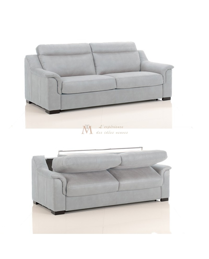 Canapé lit convertible rapido TREVISE tissu SI22 couchage 120 cm made in Italy