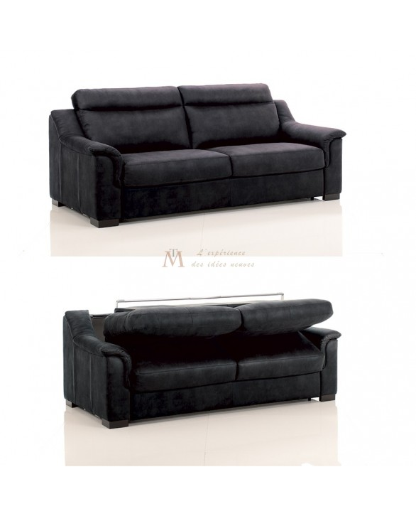 Canapé lit convertible rapido TREVISE tissu SI24 couchage 120 cm made in Italy