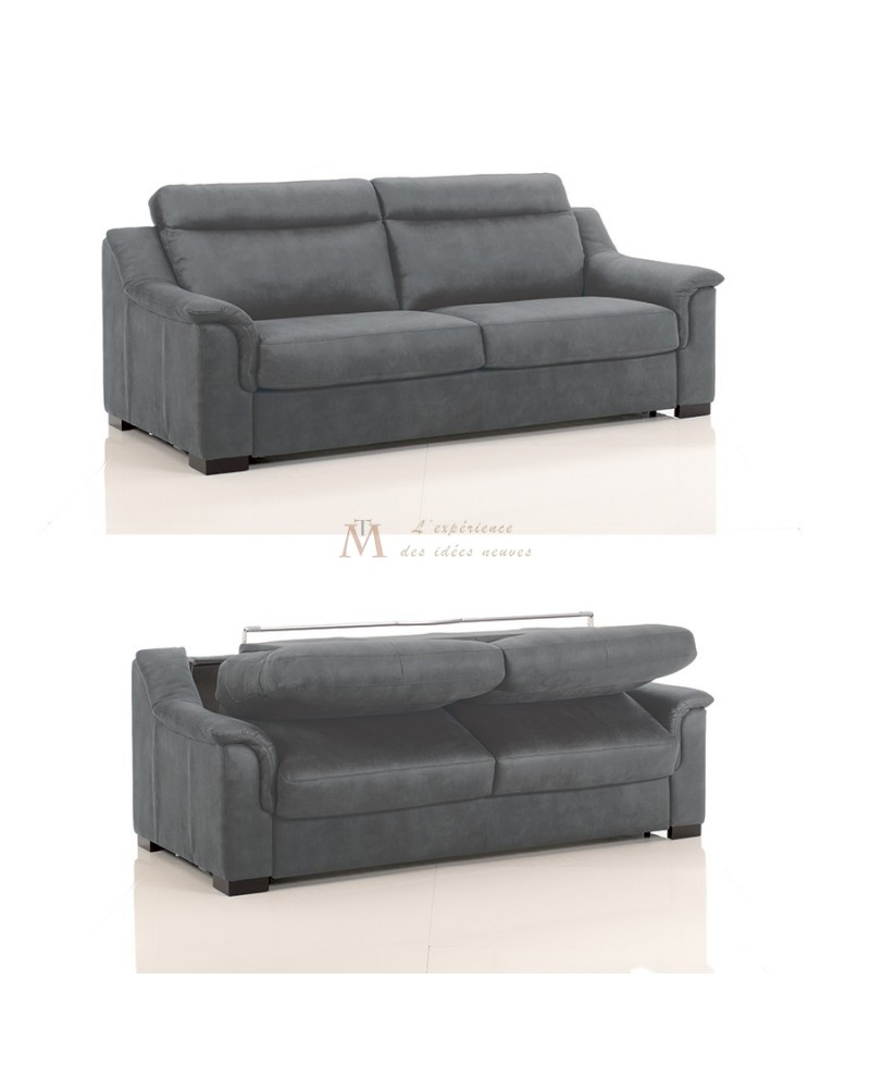 canap rapido moderne couchage 160 cm microfibre 12 coloris. Black Bedroom Furniture Sets. Home Design Ideas