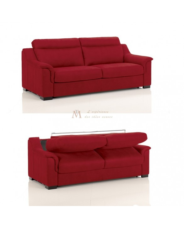 Canapé lit convertible rapido TREVISE tissu SI10 couchage 120 cm made in Italy