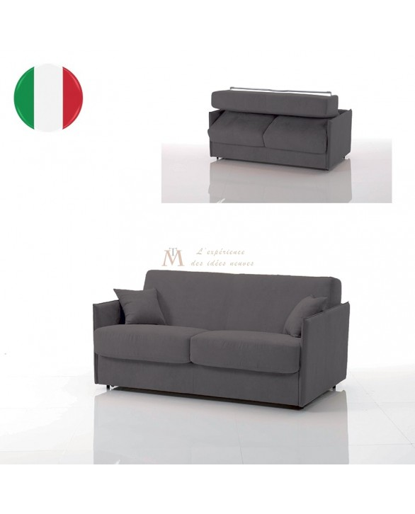 Canapé lit convertible rapido VEGA tissu SI23 couchage 120 cm made in Italy