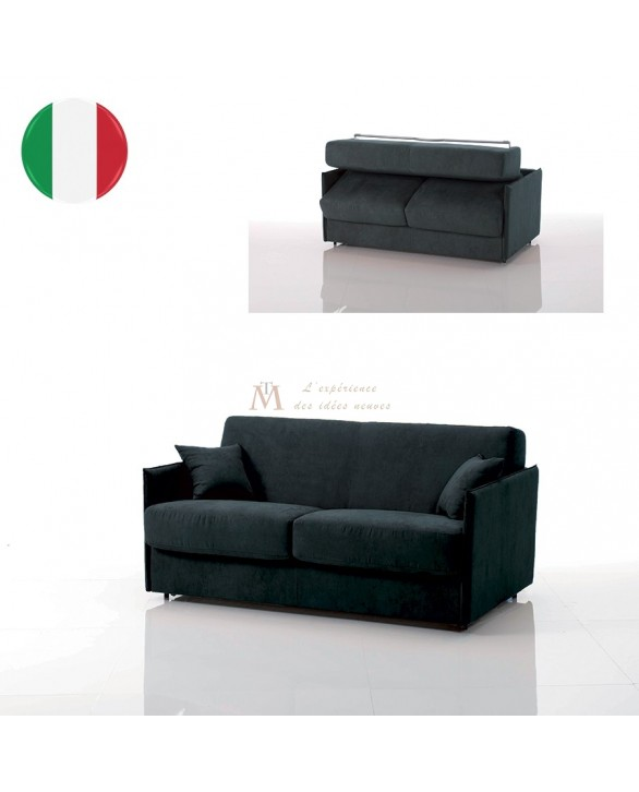 Canapé lit convertible rapido VEGA tissu SI24 couchage 140 cm made in Italy