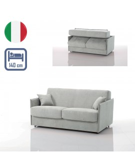Canapé lit convertible rapido VEGA tissu SI22 couchage 140 cm made in Italy