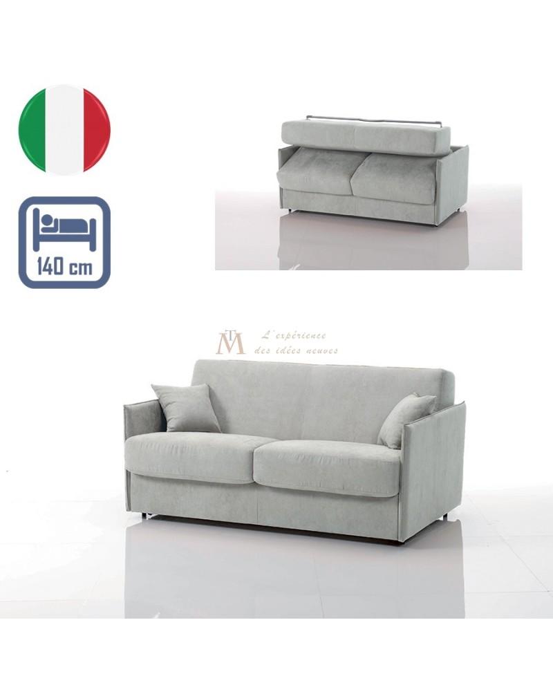 Canape Lit Convertible Couchage 140 Cm Special Petit Espace