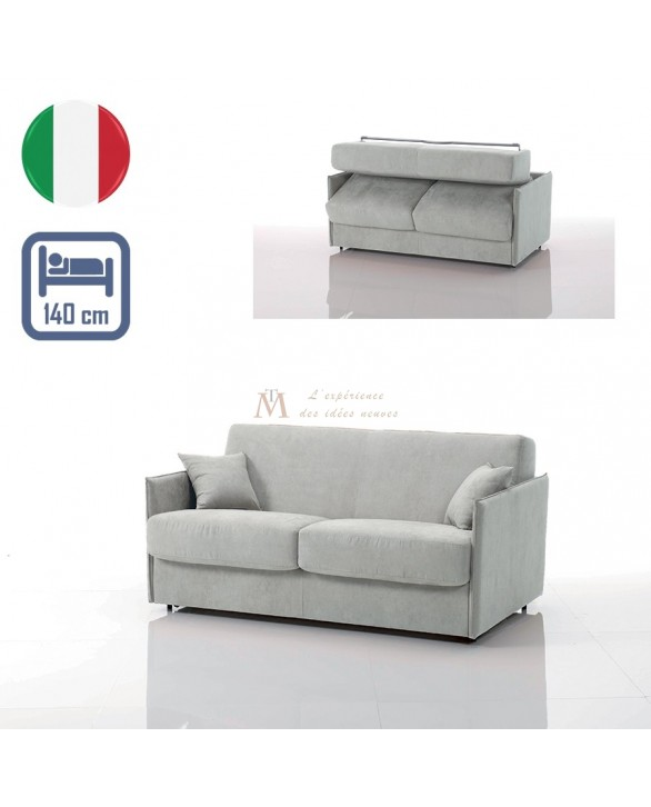 canap lit convertible rapido vega tissu si22 couchage 140 cm made in italy - Canape Lit 140