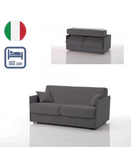 Canapé lit convertible rapido VEGA tissu SI23 couchage 160 cm made in Italy