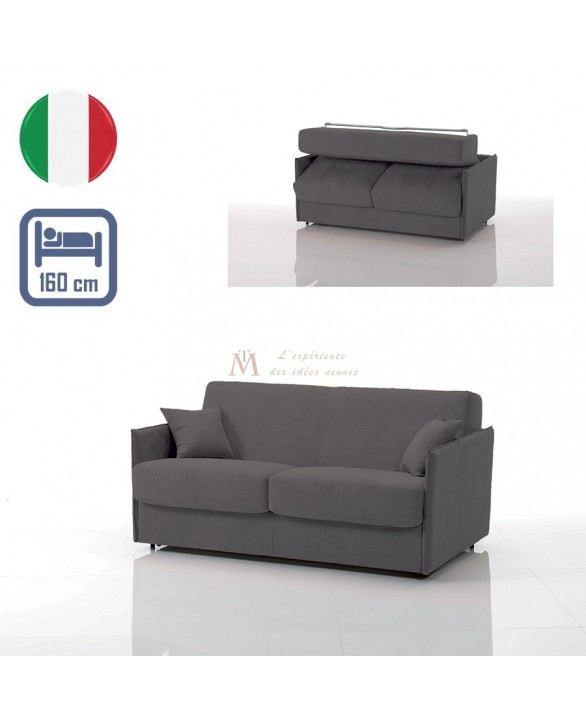 canap lit convertible couchage 160 cm sp cial petit espace. Black Bedroom Furniture Sets. Home Design Ideas