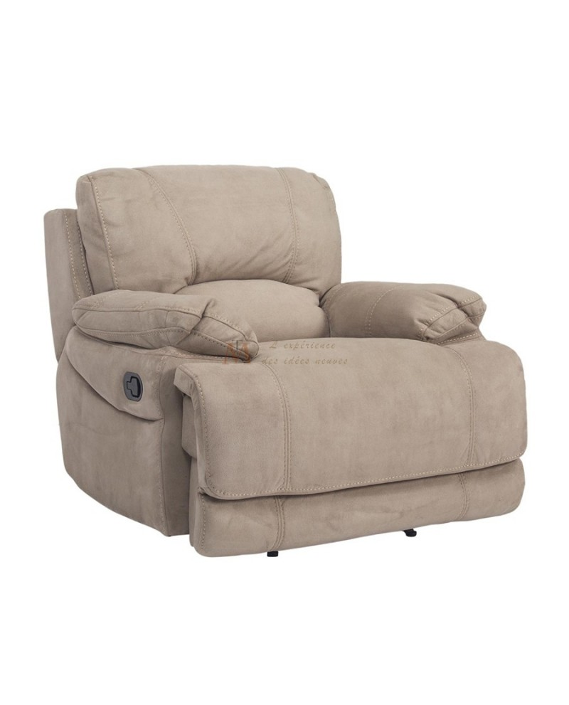 grand confort fauteuil relax manuel tissu nubuck 2 coloris. Black Bedroom Furniture Sets. Home Design Ideas