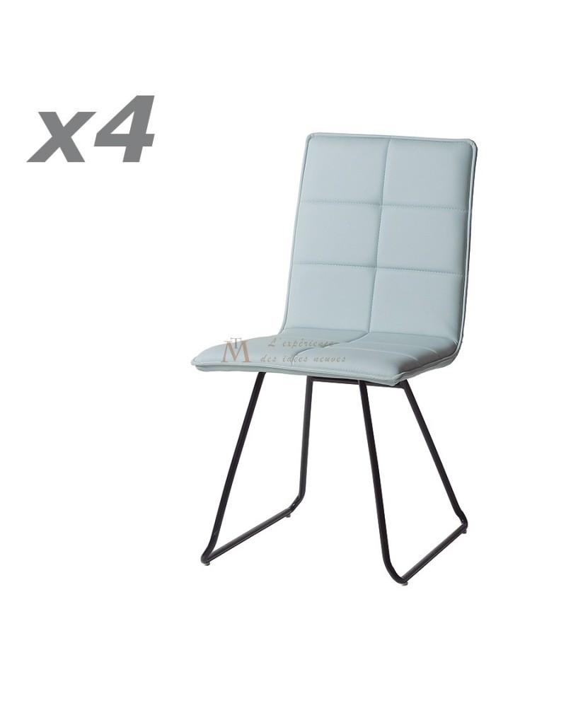 Lot de chaises design interesting chaise chaise blanche for Chaise cuir design