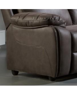 Canap fixe 2 places rev tement tissu 2 couleurs disponibles for Canape nubuck marron