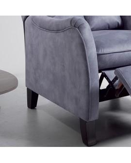 fauteuil relax manuel grand confort tissu microfibre 3 coloris. Black Bedroom Furniture Sets. Home Design Ideas
