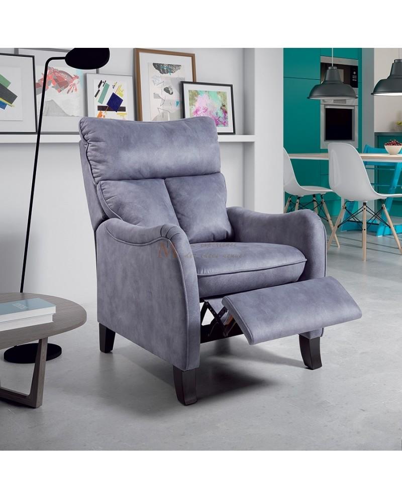 Fauteuil relax manuel grand confort tissu microfibre 3 coloris for Canape zanzibar prix