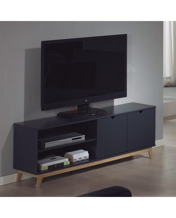 meuble tv gris anthracite avec les meilleures collections d 39 images. Black Bedroom Furniture Sets. Home Design Ideas