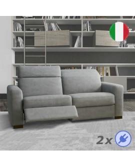 Canapé 2 ou 3 places ZAIDA revêtement microfibre 9 couleurs 2 assises relaxation