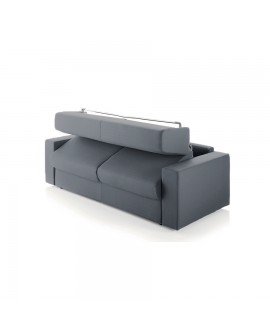 Le canapé convertible rapido ALOHA en position semi-ouverte.