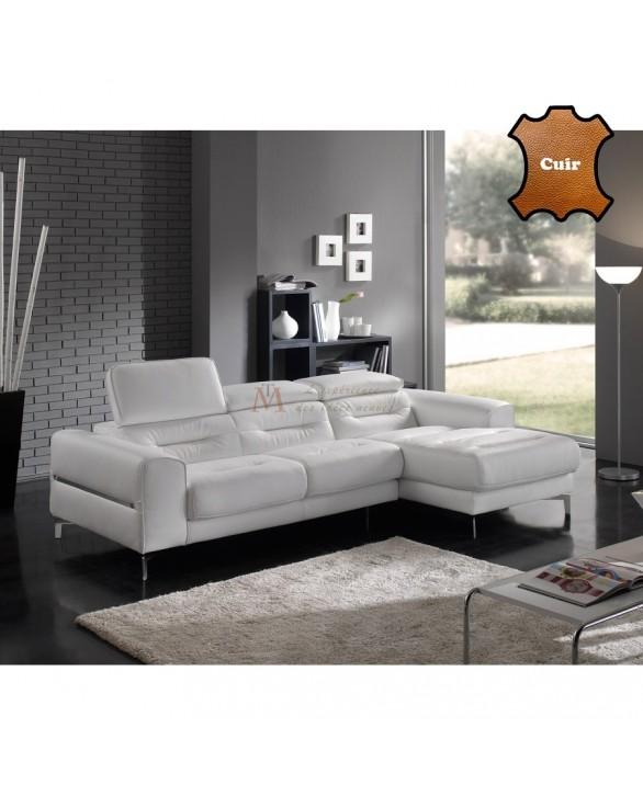 canape meridienne design cuir blanc tetieres reglables judy Résultat Supérieur 48 Luxe Canape Meridienne Design Galerie 2017 Hjr2