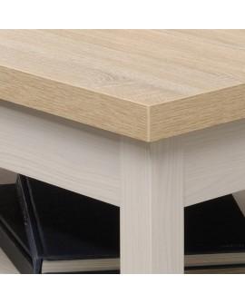 table basse contemporaine design nature ch ne et fr ne blanc. Black Bedroom Furniture Sets. Home Design Ideas