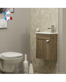 Lave mains SAIGON avec vasque plastique blanc brillant