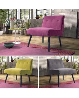 Fauteuil fixe sobre et élégant VALLY disponible en 3 coloris.