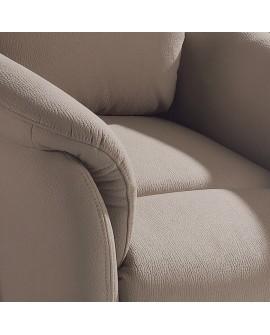 Détail du tissu beige du fauteuil relax avec releveur ROMEO