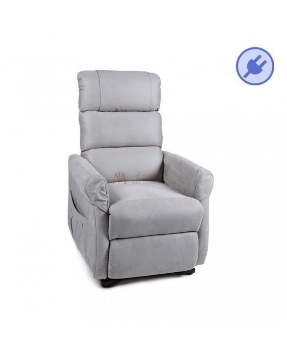fauteuil releveur avec relaxation lectrique tissu 3 coloris. Black Bedroom Furniture Sets. Home Design Ideas