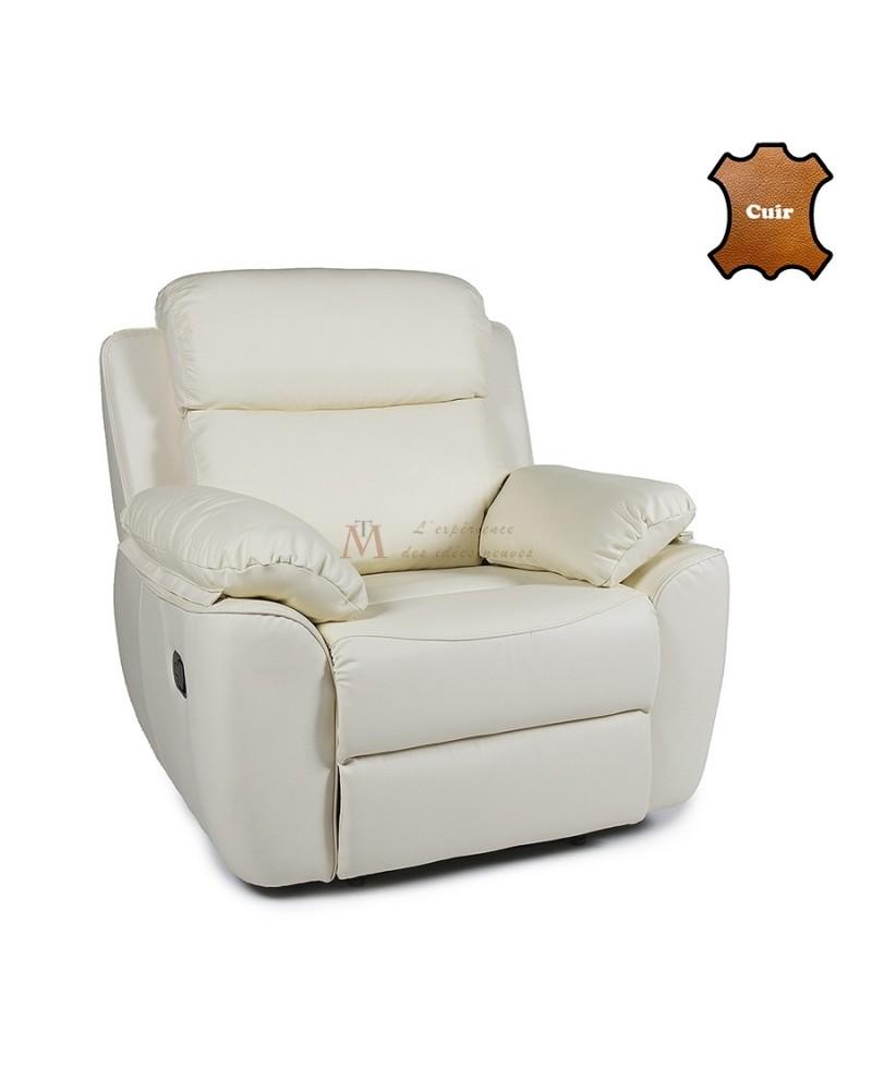 fauteuil relax manuel grand confort cuir qualit sup rieure. Black Bedroom Furniture Sets. Home Design Ideas
