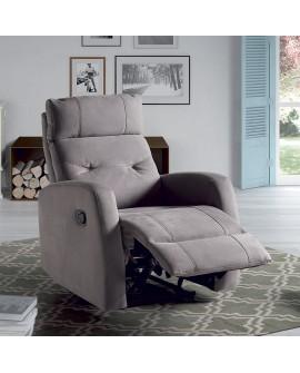 Fauteuil relaxation manuelle CARIOCA couleur grise avec flap ouvert