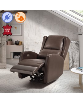 Fauteuil relax équipé du système relaxation électrique LEGGET & PLATT YADE