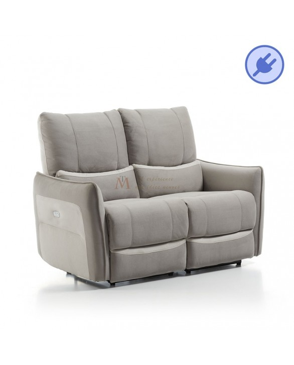 Canap relax microfibre 2 ou 3 places m canisme lectrique for Canape disponible immediatement